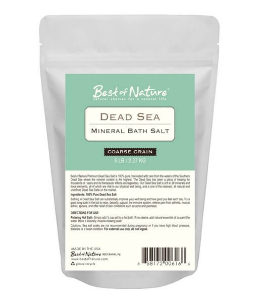 Best Of Nature Coarse Grain Dead Sea Mineral Bath Salt - 5lb Bag