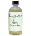 Best of Nature 100% Pure Lemongrass & Sage Herbal Bath Oil - 4oz