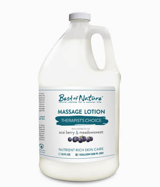 Best of Nature Therapists Choice Acai & Meadowsweet Massage Lotion - Gallon