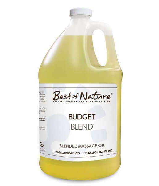 Best of Nature 100% Pure Budget Blend Massage Oil - Gallon