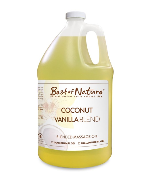 Best of Nature Coconut Vanilla Massage & Body Oil Blend - Gallon