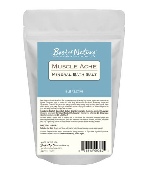 Best Of Nature Muscle Ache Mineral Bath Salt - 5lb Bag