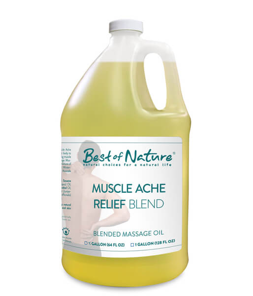 Best of Nature Muscle Ache Relief Blend Massage & Body Oil - Half Gallon
