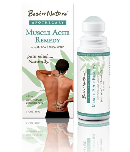 Best of Nature Muscle Ache Remedy Natural Pain Relief Roll On - 3oz