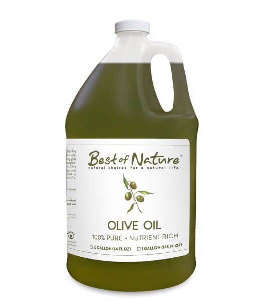 Best of Nature 100% Pure Olive Massage & Body Oil - Half Gallon