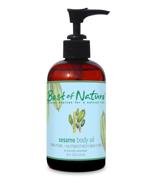 Best of Nature 100% Pure Sesame Massage & Body Oil - 8oz
