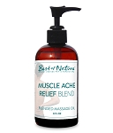 Best of Nature Muscle Ache Relief Blend Massage & Body Oil - 8oz
