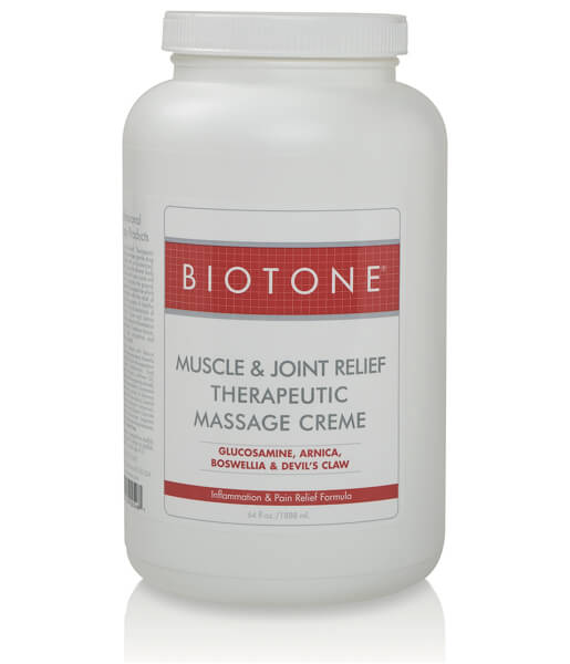 Biotone Muscle & Joint Massage Cream - Half Gallon
