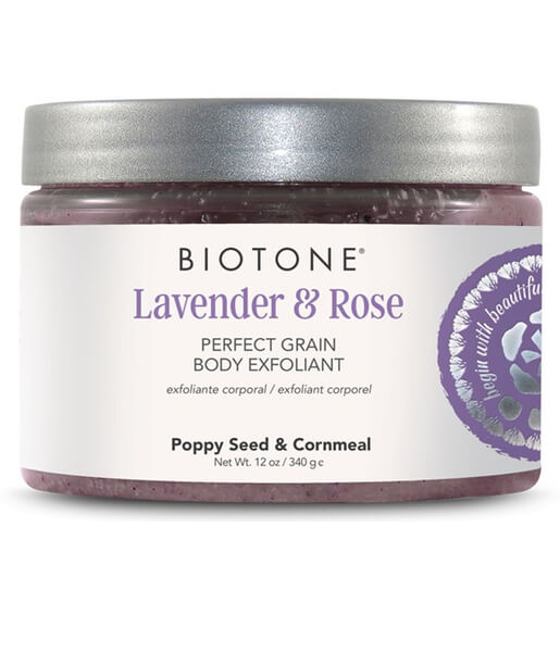 Biotone Perfect Grain Body Exfoliant 12oz - Lavender & Rose