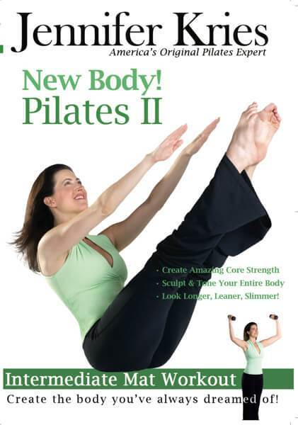 New Body Pilates II Intermediate Mat Workout Video on DVD - Jennifer Kries