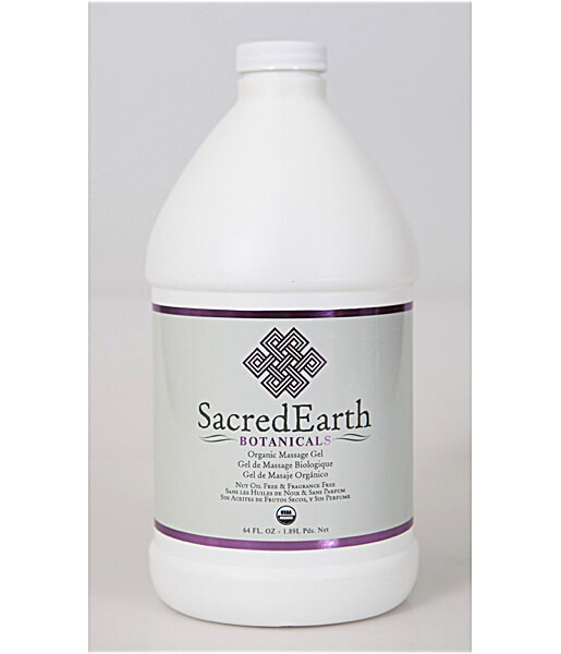 Sacred Earth Botanicals Organic Massage Gel - Half Gallon