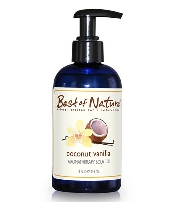 Best of Nature Coconut Vanilla Aromatherapy Massage & Body Oil - 8oz