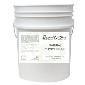 Best of Nature Natural Choice Blend Massage & Carrier Oil - 5 Gallon Pail