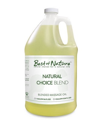 Best of Nature Natural Choice Blend Massage & Carrier Oil - Gallon