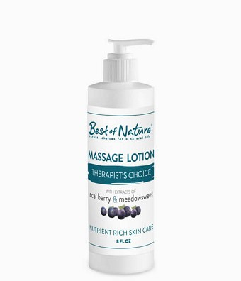 Best of Nature Therapists Choice Acai & Meadowsweet Massage Lotion - 8oz