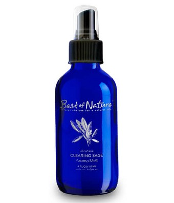 Best of Nature Clearing Sage Essential Oil Aroma Mist & Room Spray - 4oz