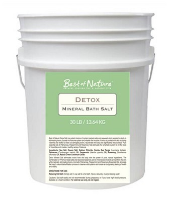 Best Of Nature Detox Mineral Bath Salt - 30lb Pail