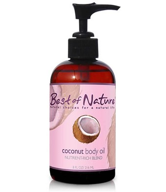 Best of Nature Fractionated Coconut Massage & Body Oil - 8oz