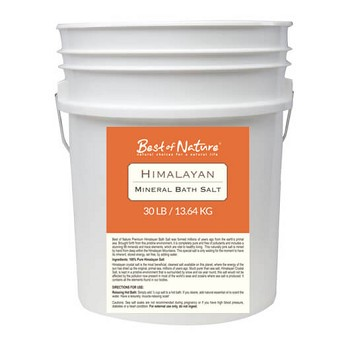 Best Of Nature Himalayan Mineral Bath Salt - 30lb Pail