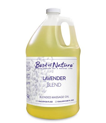 Best of Nature Lavender Blend Massage Oil - Half Gallon