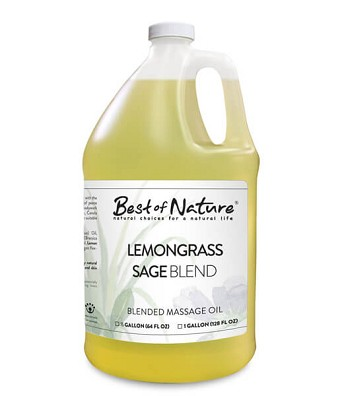 Best of Nature Lemongrass & Sage Aromatherapy Blend Massage Oil - Half Gallon