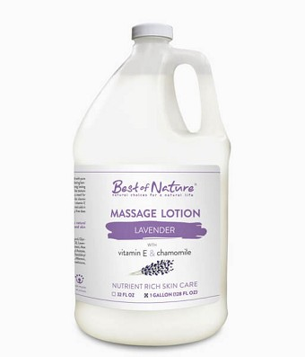 Best of Nature Lavender Massage Lotion - Gallon