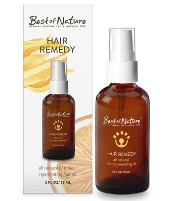 Best of Nature Hair Remedy All Natural Rejuvenating Oil - 2oz