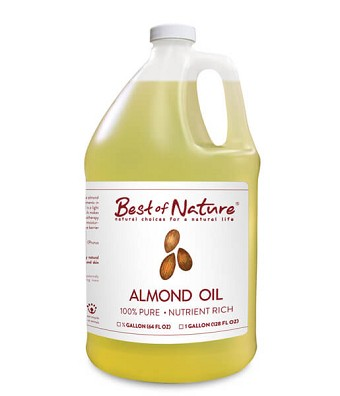 Best of Nature 100% Pure Almond Massage & Body Oil - Gallon
