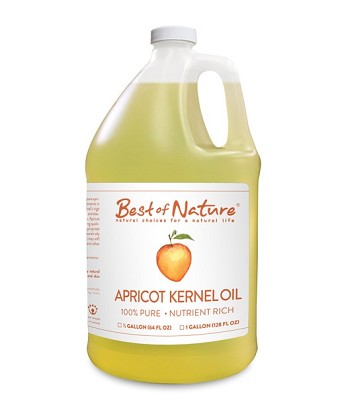 Best of Nature 100% Pure Apricot Kernel Massage & Body Oil - Gallon