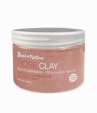 Best of Nature 100% Pure Rose Clay French Pink Kaolin - 6.5oz