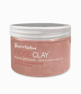Best of Nature 100% Pure Rose Clay French Pink Kaolin - 2lb Spa Size