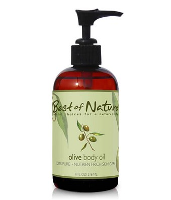 Best of Nature 100% Pure Olive Massage & Body Oil - 8oz