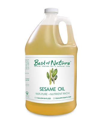 Best of Nature 100% Pure Sesame Massage & Body Oil - Gallon