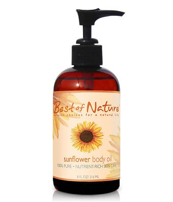 Best of Nature 100% Pure Sunflower Massage & Body Oil - 8oz