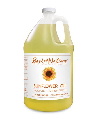 Best of Nature 100% Pure Sunflower Massage & Body Oil - Gallon