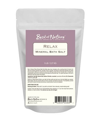 Best Of Nature Relax Mineral Bath Salt - 5lb Bag