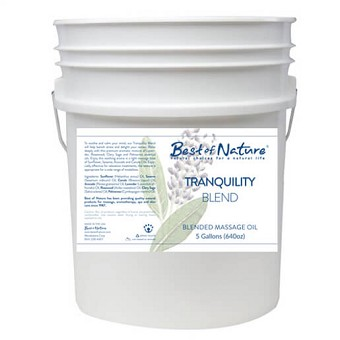 Best of Nature Tranquility Blend Massage Oil - 5 Gallon Pail
