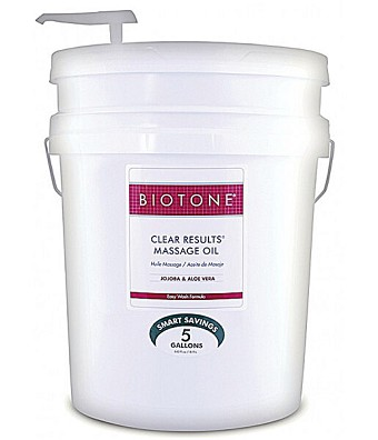 Biotone Clear Results Massage Oil - 5 Gallons