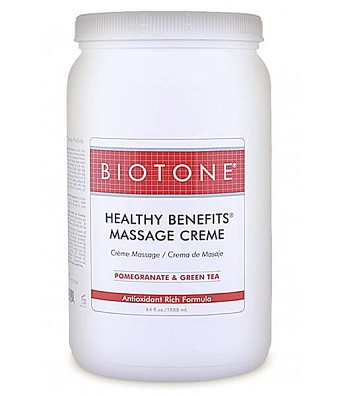 Biotone Healthy Benefits Massage Cream - Half Gallon