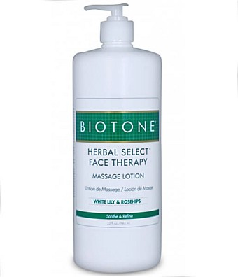 Biotone Herbal Select Face Therapy Massage Lotion - 32oz