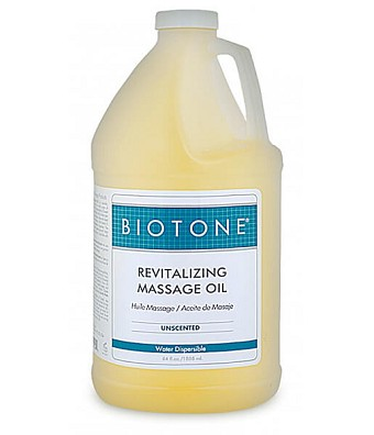 Biotone Revitalizing Unscented Massage Oil - Half Gallon