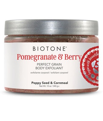 Biotone Perfect Grain Body Exfoliant 12oz - Pomegranate & Berry