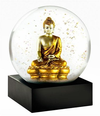 Cool Snow Globes Zen Gold Buddha