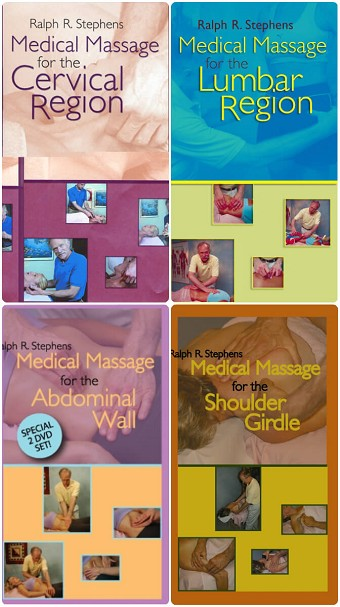 Medical Massage - Neck Shoulder Back Abdominal Wall 5 DVD Set - Ralph Stephens