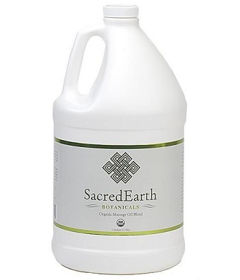 Sacred Earth Botanicals Organic Massage Oil - Gallon